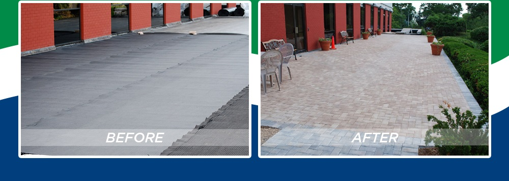 Super Thin Pavers - Commercial Driveway