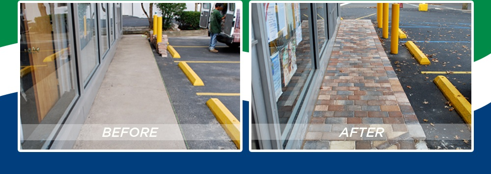 Super Thin Pavers - Commercial Walkway