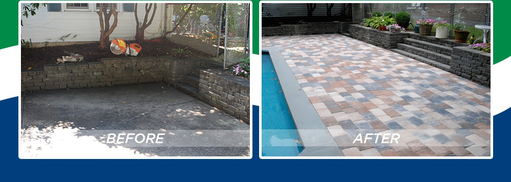 Super Thin Pavers - Pool Patio